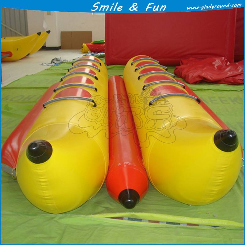 2015 inflatable banana boat PVC material with CE certification for hot sale
