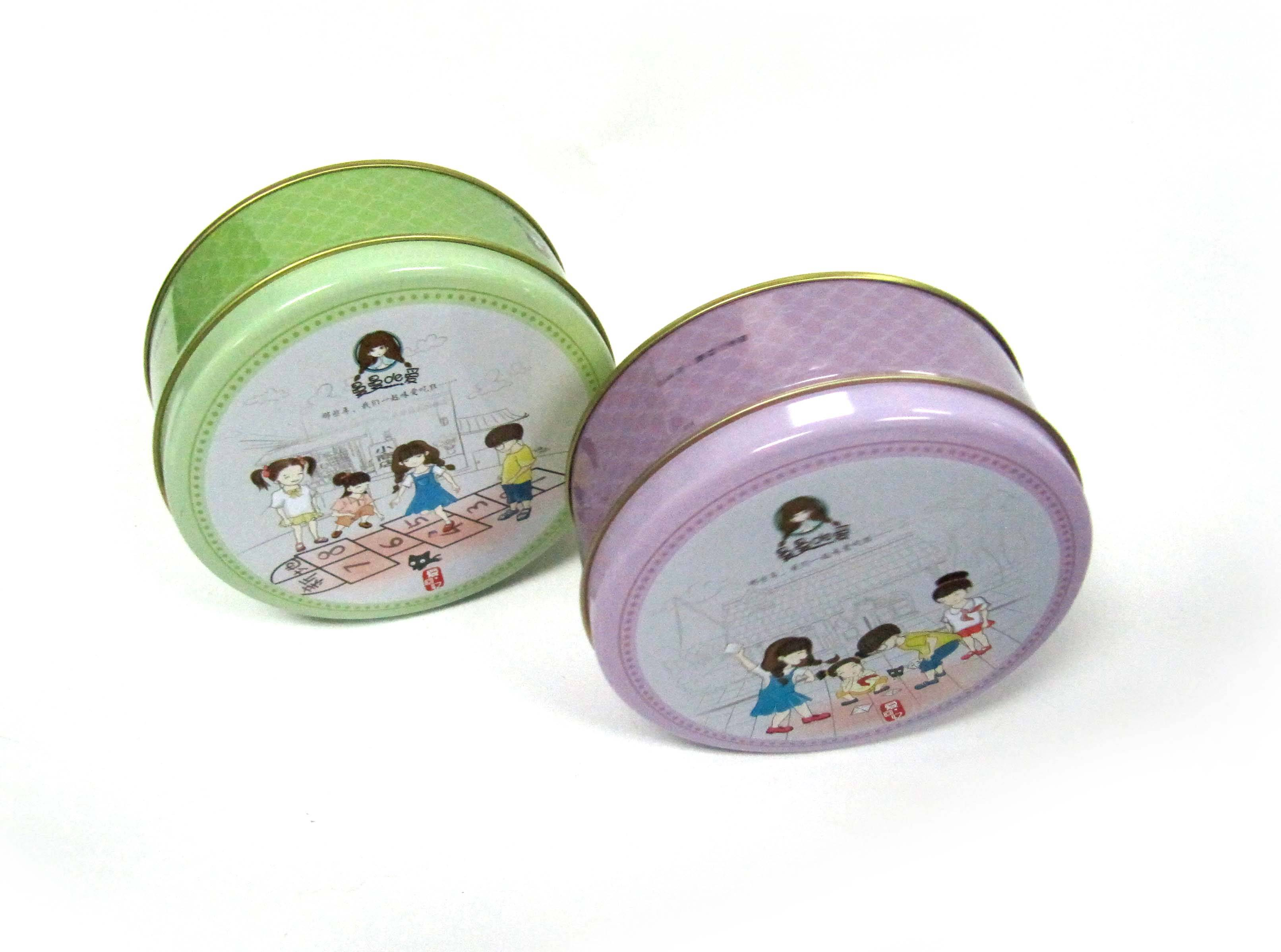 More Colors Round gift Tin Box/Wedding Gift Round Candy Box