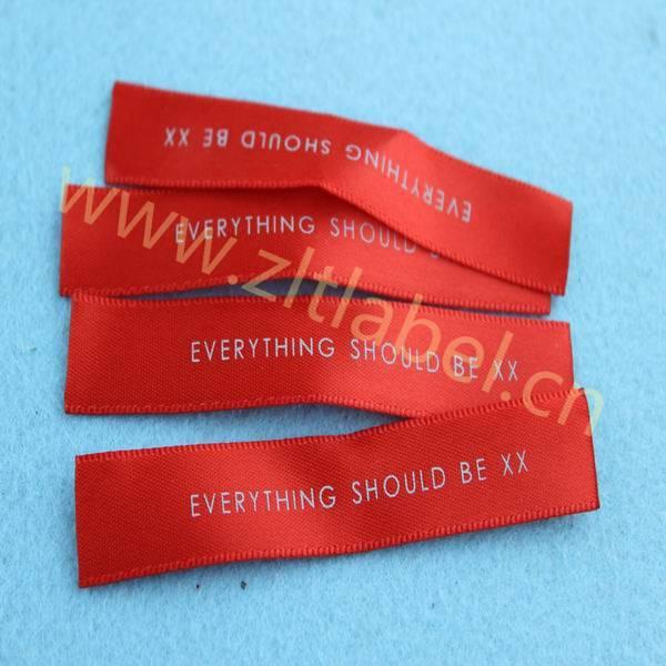 custom direct factory printed labels for garment