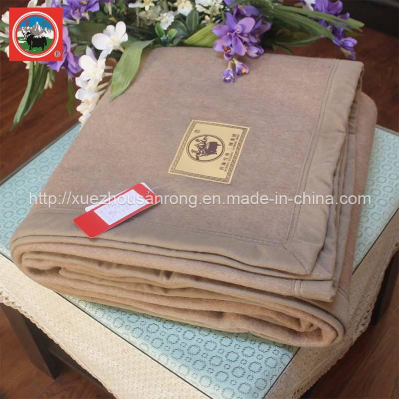 Jacquard yak wool/camel wool/cashmere blanket