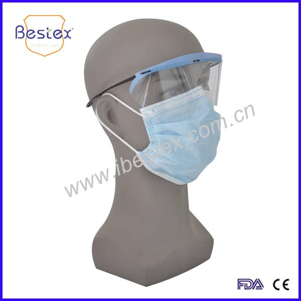 CE Certificated Double Anti-fog Clip On Disposable Eyewear