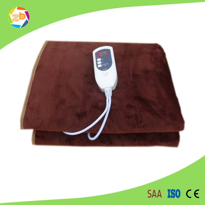Quality customized single or double electric temperatured blanket