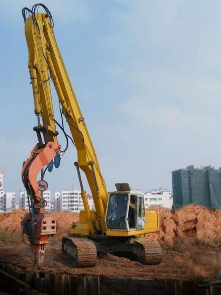 excavator pilling boom