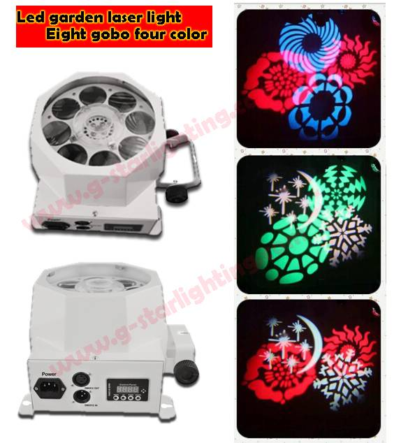 LED Eight gobo four color design light