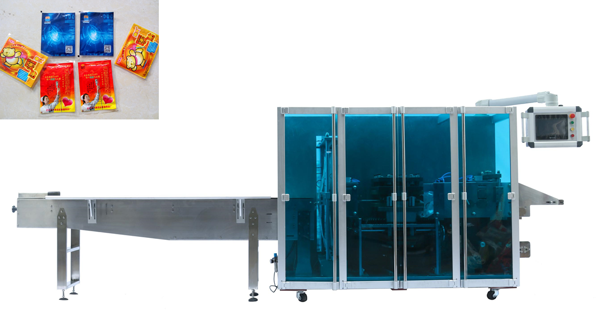 Automatic Four Sides Sealing & Packing Machine for Heating Pad, Exothermic Padding, Body Warmer