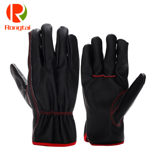 Cowhide black hand gloves manufacturers in China
