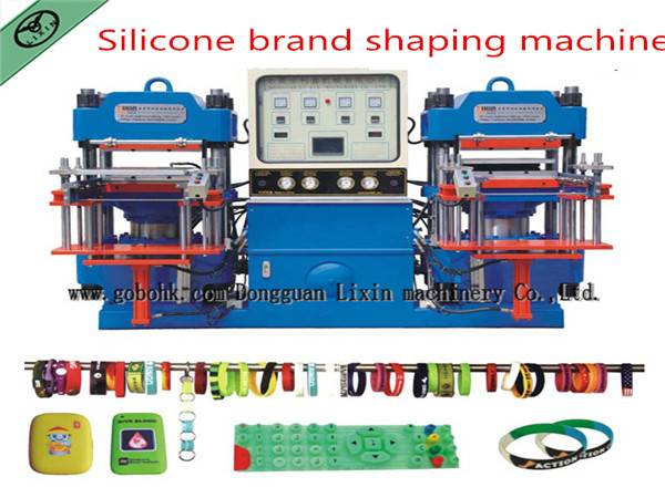 Fashion silicone embossing bracelet making machine