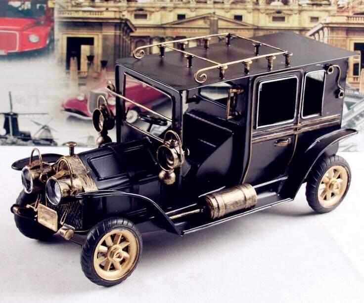 handmade metal old car model