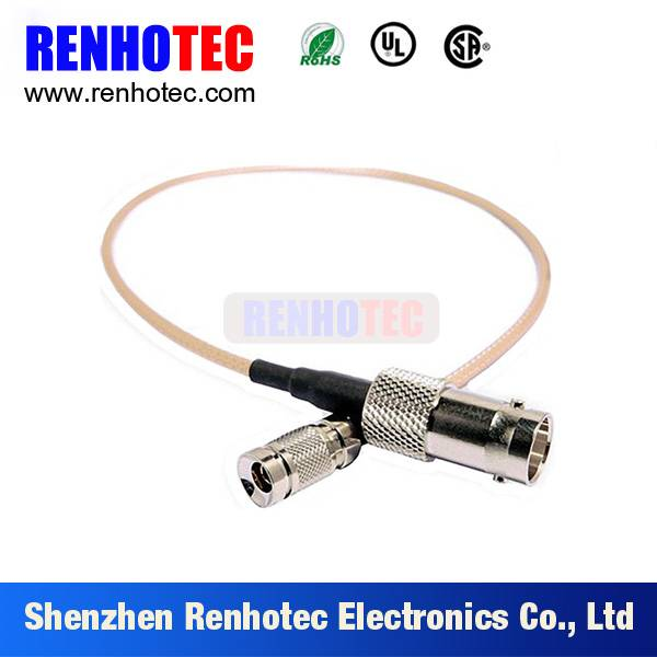 1.0/ 2.3 male straight connector to BNC