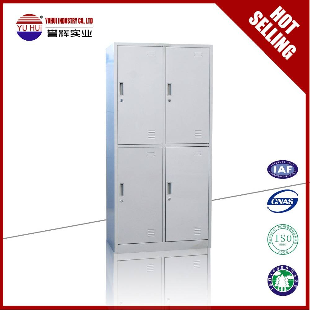 kd structure grey 4 door metal wardrobe