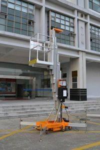 Single Mast Aluminium Lifting Platform with AC/DC Optional Power