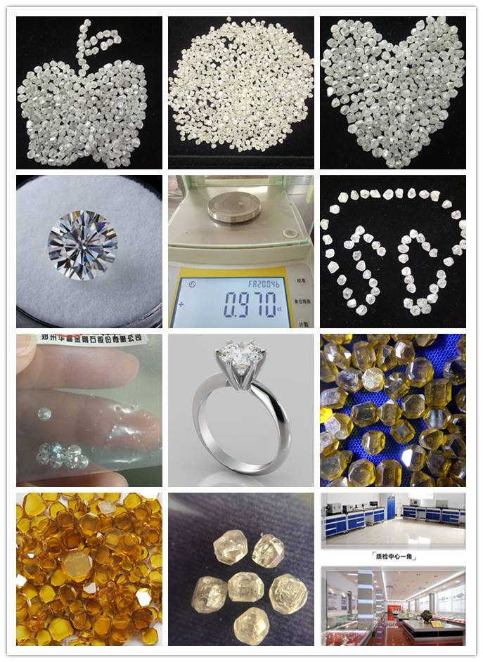 HPHT Synthetic Rough Diamond for Loose Diamond
