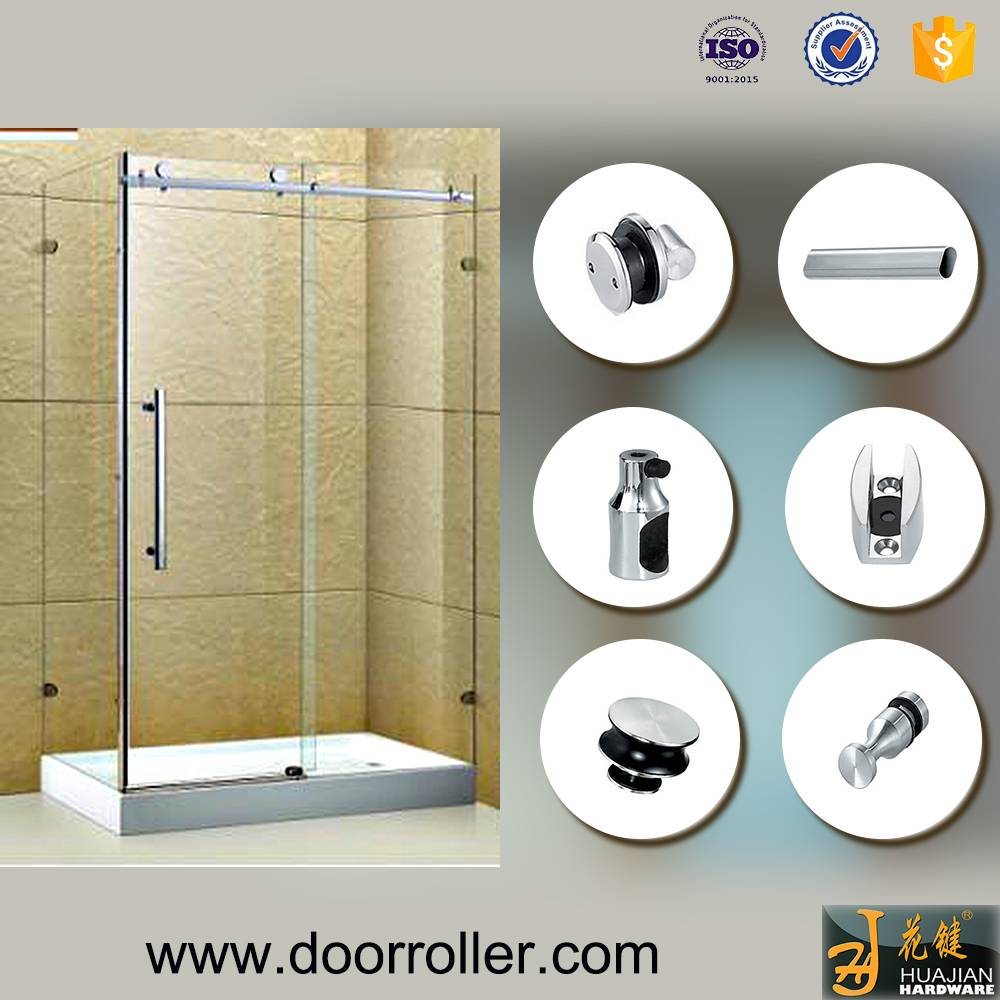 stainless steel decorative glass sliding door hardware