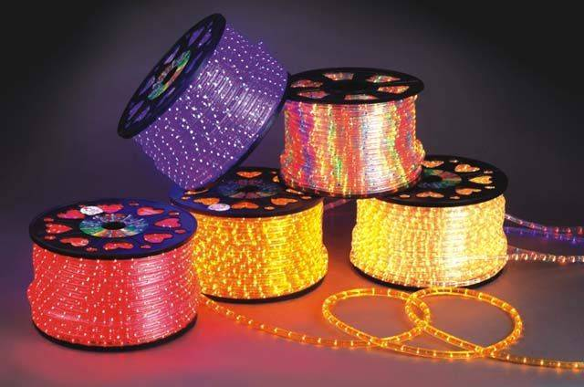 Flat 3-wire rice bulb rope light