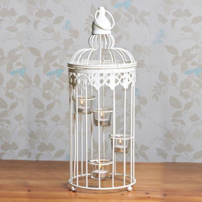 Metal Wire Birdcage Ornamental Tealight Candle Holder For Home Décor