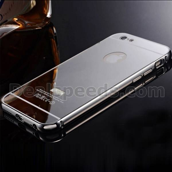 The Modern Minimalist Metal Border Electroplated PC Shell Hard Case Cover for iphone 6s Plus(Sliver)