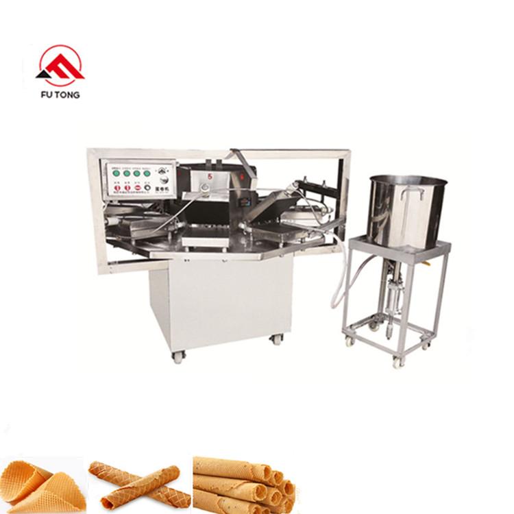 Industrial Stainless Steel Kuih Kapit Roll Machine Sugar Egg Roll Maker Waffle Roll Baking Equipment