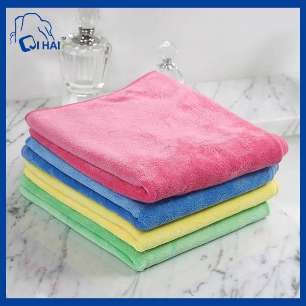 Warp Kiniting Microfiber Coral Fleece Cleaning Towel (QHL77667)