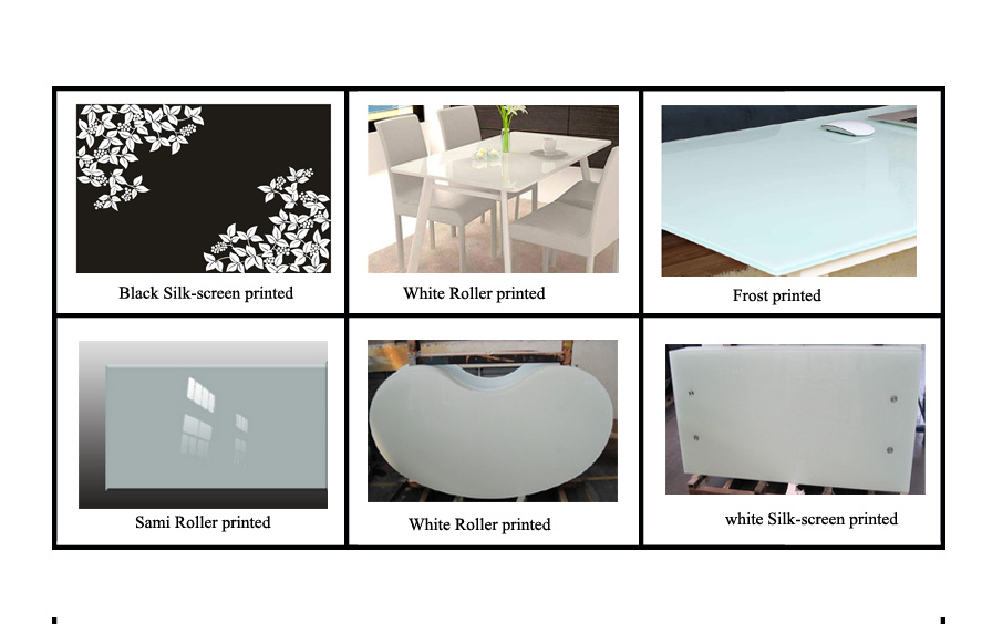 CE certiication of 8-19mm white glass table top
