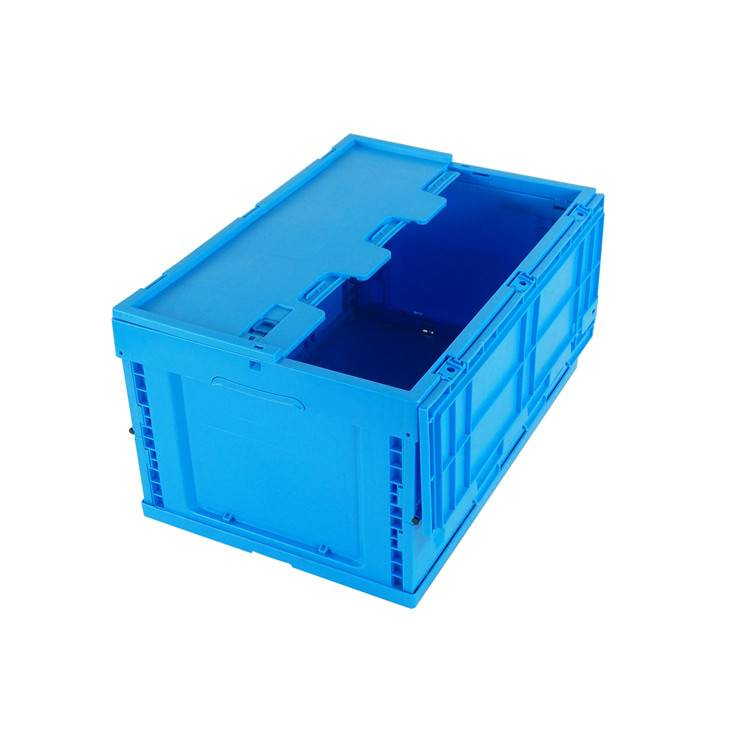 600*400*320mm high quality folding feature plastic material solid type storage box