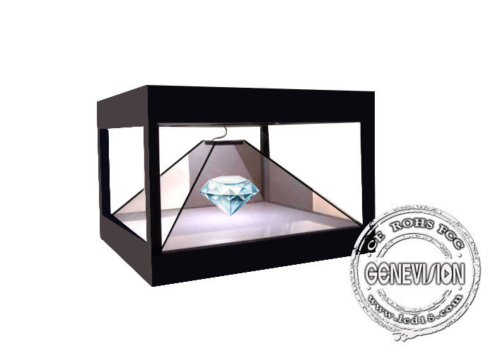 Full HD 3D 360 Degree Holographic Display digital signage , Advertising Pyramid Hologram