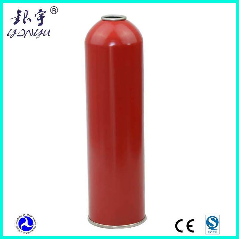 High pressure gas canister for R134a gas refrigerant