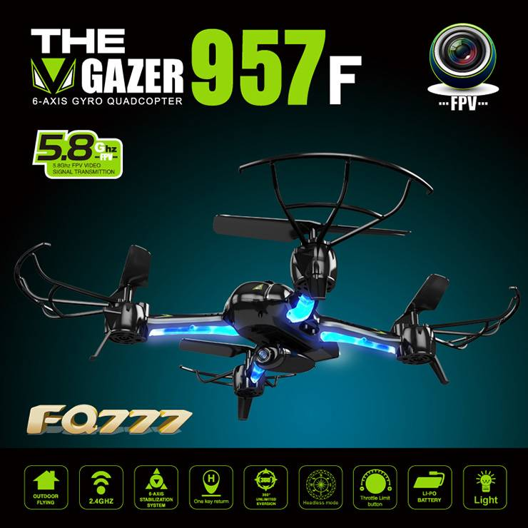 BBM-D7 The Gazer RC Quadcopter 1280*720 720P Camera FPV 6AXIS GYRO 5.8G