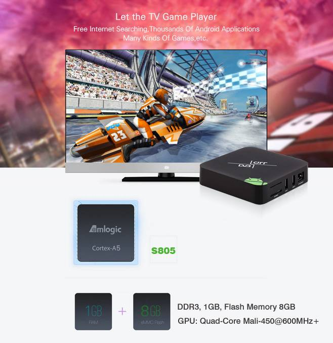 Amlogic S805 Quad Core Android DVB-S2 Set Top Box