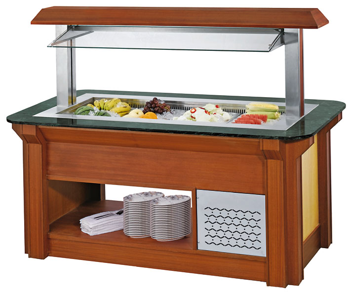 R134a/R404a custom salad bar 26207601700MM counter top salad bar