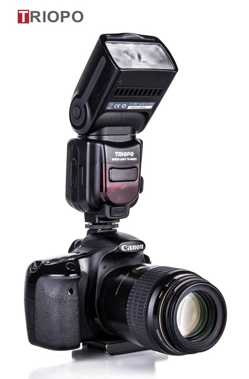TRIOPO TR-586 dslr camera speedlite studio flash light,manufacture TTL flashgun  with slave flash fo