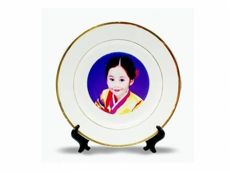 Sublimation ceramic plates for home decoration