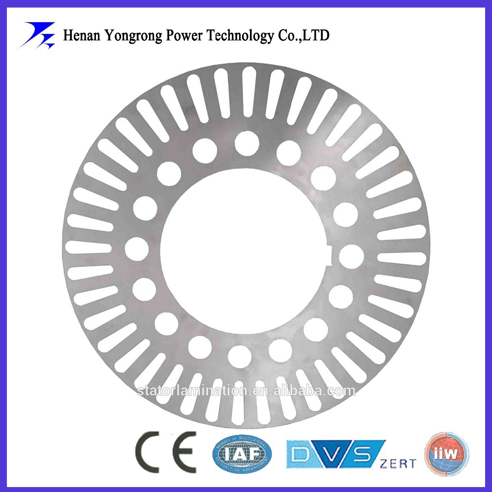 Induction motor stator rotor cores and lamination