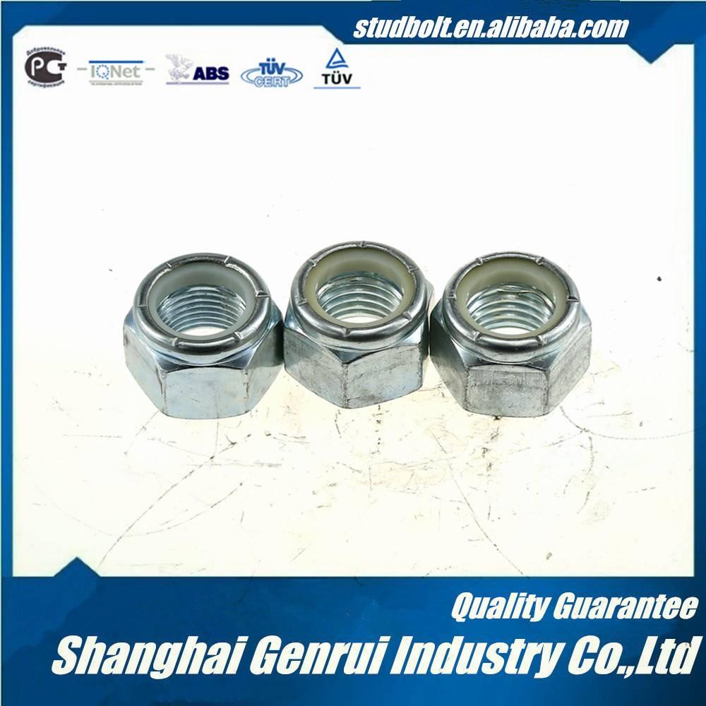 DIN985 zinc plated nylon insert lock nut UNC
