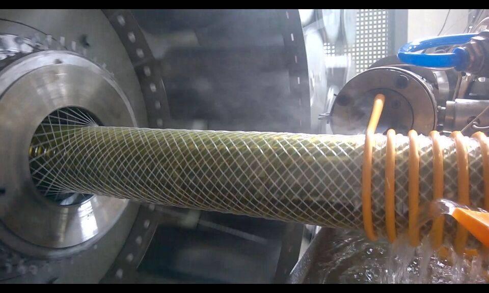 PVC fiber reinforced suction hose production line