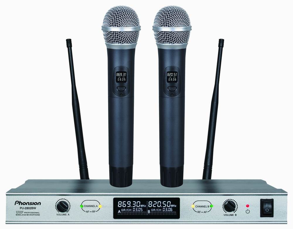 PU-2802BW UHF wireless microphone