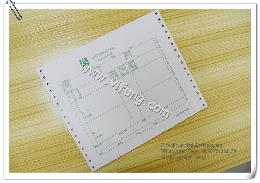 Order Forms Continuous Carbonless Forms Printing