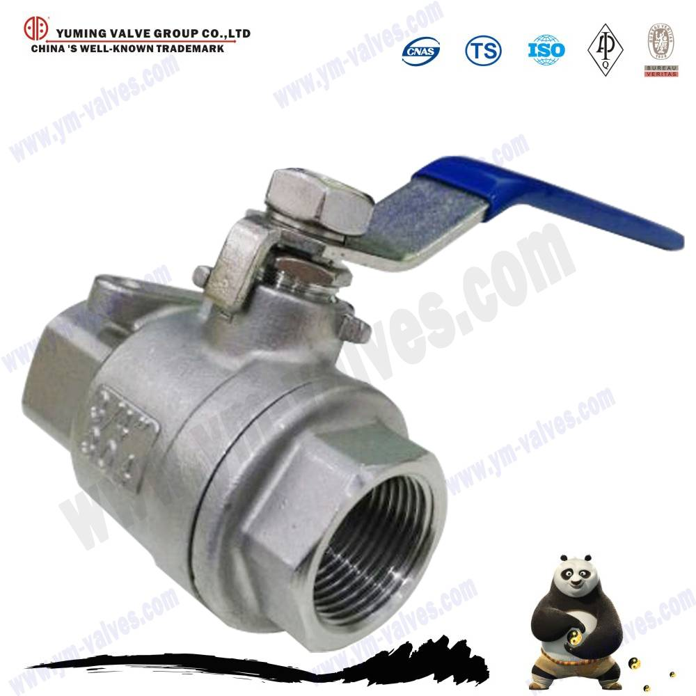 2pc stainless steel cf8 ball valve