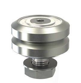 LJ54, 70 degree V rail studded wheel,