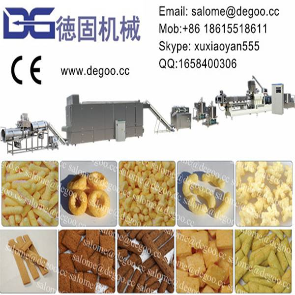 Automatic Corn Puff Snack Food Extruder Machine Production Line