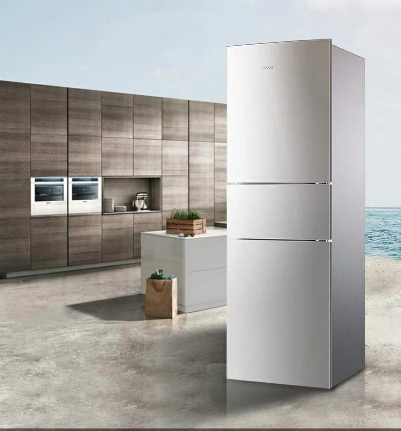 Tengfei three door air-cooled frost-free energy-saving refrigerator bcd-221wlmpc