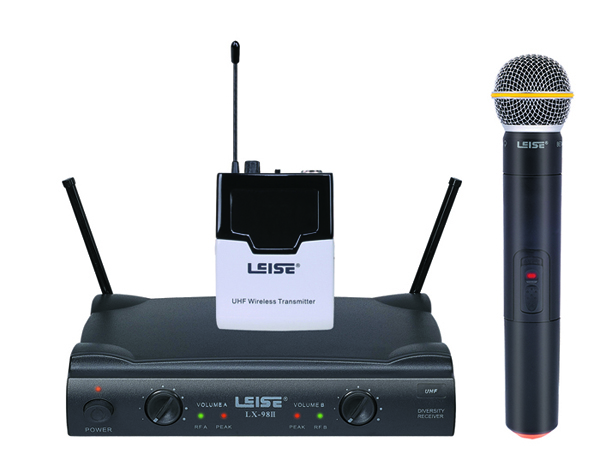 LX-98II Dual Channel UHF wireless microphone