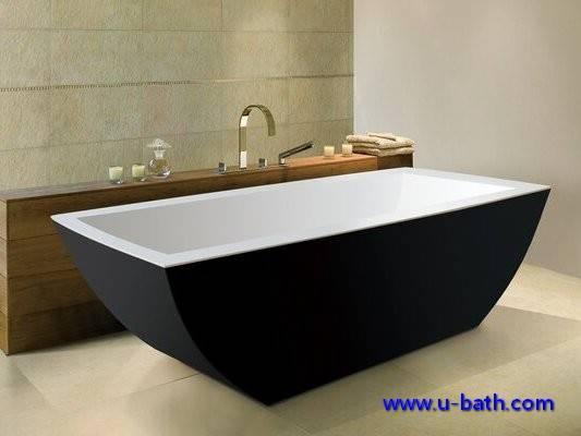 UB162 Black color modern bathtub for soaking