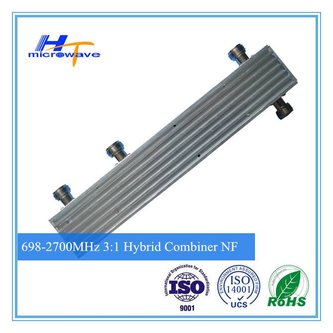 High quality RF 700-2700MHz Hybrid Combiner 3 in 1 out 3:1 n female connector(Telecommunication)