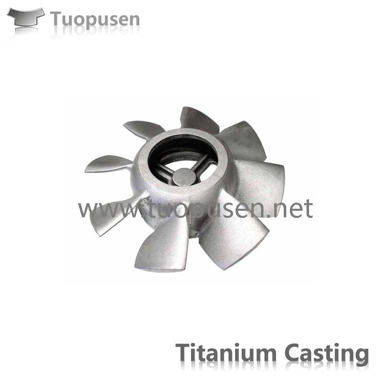 Titanium precision casting C5 Titanium impeller