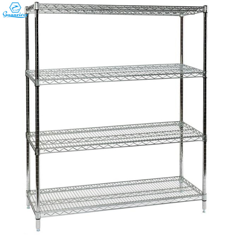 Steel Storage Shelving Rack Powder Black Wire Shelves