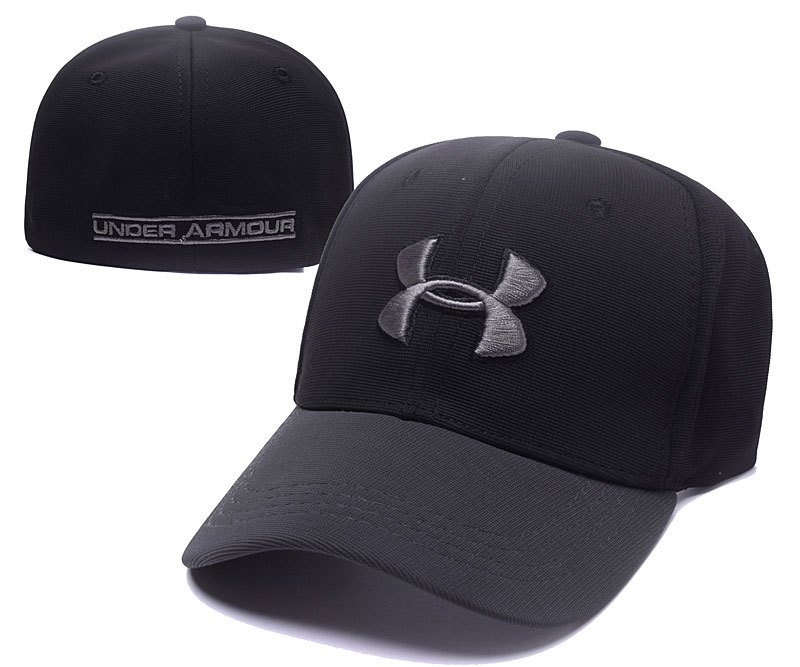 Under Armour Stretch Fitted Hats Black Gray