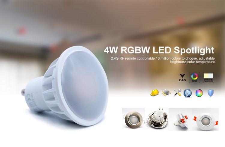 rgbw rgb led wifi smart bulb Android and IOS globe led light gu10 mr16 led gu10 dimmbar gledopto mil