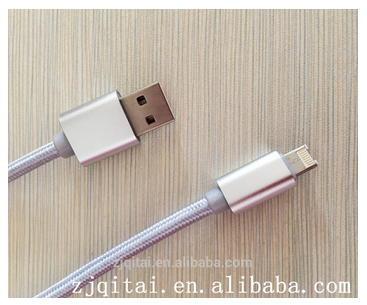 MFi 2 in 1 USB cable for iPhone and Samsung,for apple mfi certified cable braided