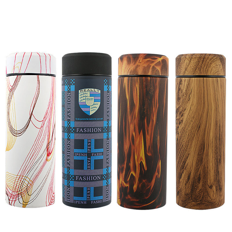 Wood Grain Stainless Steel Vacuum Insulation Flask