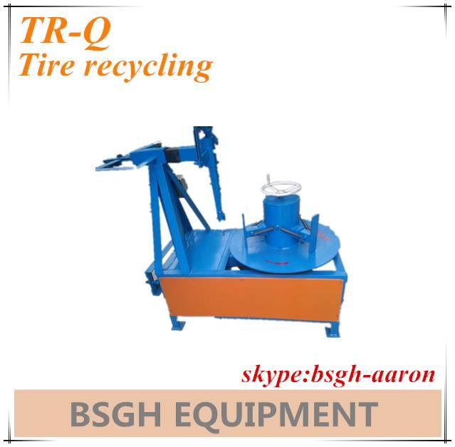TR-Q scrap used waste tire sidewall cutting machine